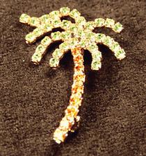 Crystal Palm Tree Jewelry Pin