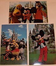 Disney World Postcards  (3)  Mickey Mouse and Friends  from the 70's  #2