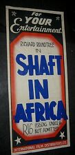HAND MADE  SHAFT IN AFRICA Poster 1 of a kind SOUTH PACIFIC DAYBILL