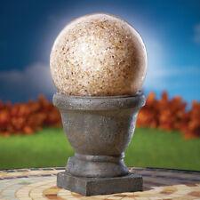 Amber Ball Solar Garden Light On Pedestal, by Collections Etc