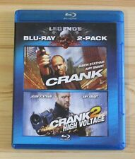 Crank/Crank 2: High Voltage (Blu-ray Disc, 2010, 2-Disc Set) Jason Statham