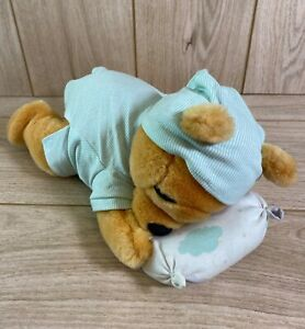 Rare Vintage Disney Winnie The Pooh Wind Up Musical Plush Sleeping Moving Head