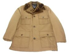 Vintage Shanhouse Brown Overcoat Winter Coat Sherpa Lined Mens Size Medium/ 40-R