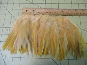 """BLOCK BROOK 6"""" Piece SADDLE HACKLE 5-7"""" FEATHERS FLY TYING MATERIAL GINGER"""