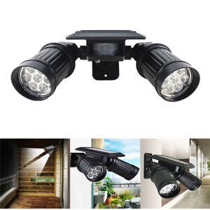 14 LED Solar Powered PIR Motion Sensor Security Spotlight Outdoor Garden Light