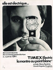 PUBLICITE ADVERTISING 094  1970  TIMEX ELECTRIC  collection montres