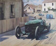 Henry segrave SUNBEAM 1923 Grand Prix Sport automobile racing classic car art print