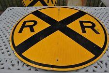 "VINTAGE 36""  AROUND HEAVY GAUGE STEEL REFLECTIVE   RAILROAD CROSSING SIGN"