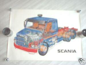 SCANIA  TRUCK  V8 POSTER 1981