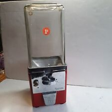 Vintage 1 Cent Gumball Vending Machine w/Key - Countertop