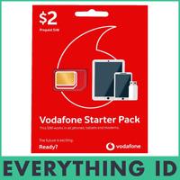 AUSTRALIAN VODAFONE PREPAID MULTI FIT SIM CARD PACK 3G 4G LTE NORMAL NANO MICRO