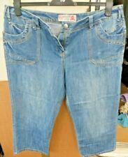 Womens Blue Denim Slouch Crop Jeans Size 16 - TU