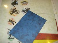 CREATIVE MEMORIES 12x12 PRIMARY EXTREME SPORTS ADDITIONS PAPER TITLES STICKERS +