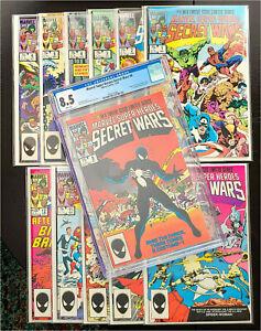 Marvel Super-Heroes Secret Wars #1-12 Complete VF/NM, #8 CGC 8.5 WHITE