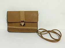 B Bag Tan Small Fashion Bag with gold color garments