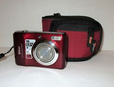 Nikon Coolpix L20 Digital Camera 10MP w/ Lowepro Case Tested Good Condition