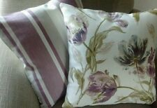 One Laura Ashley Gosford Plum & Awning Stripe Grape Fabric Cushion Cover