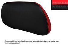 Negro & Rojo Brillante Personalizada encaja Suzuki An 650 Burgman 02-12 respaldo cubierta