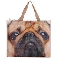 Pug Shopping Bag - Tote, Large, Dog, Reusable, Strong, Groceries, Durable, Puppy