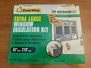 """Frost King V95 Outdoor Window Shrink Film Insulation Kit -Outdoor use 62"""" x 210"""""""