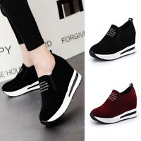 2019 Women Casual Wedge Platform Shoes Athletic Outdoor Slip On Sports Sneakers