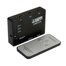 3Port HDMI 1.4 Auto Car Switch 3 in 1 out Switcher 4k×2k 3D Amplifier Remote PS3
