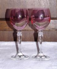 Art Glassware Pink Crystal & Cut Glass Decanters
