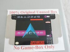 Spectre, 100% Original Unused Box Only, SNES, Super Nintendo, Rare