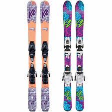 New listing K2 Luv Bug Ski Set With Marker Fdt Binding Childrens Rocker-Ski Alpine Skiing