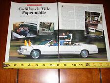 CADILLAC DE VILLE POPE MOBILE - ORIGINAL 1999 ARTICLE