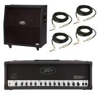Peavey 6505 412 Slant Cabinet & 6534 + Plus Amp Head Guitar Package w/ Cables