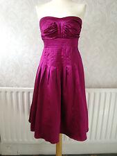 Gorgeous Warehouse Spotlight Cerise/Wine Silk Mix Party/Evening Dress Size 10