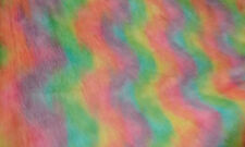 Faux Fur Shag Rainbow Pastel Colors BTY Fashion Photo Prop Rug Clothing Cosplay