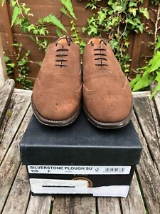 Men's - Cheaney - Silverstone - Brown Suede Brogue Shoes -UK 10.5