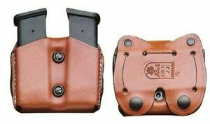 DeSantis Double Pistol Magazine Pouch TAN LEATHER A01 Universal for 9mm/45