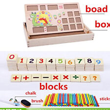 Teaching Clock Time Learning, Maths Mathematics Digit Counting Learning Toy 6A