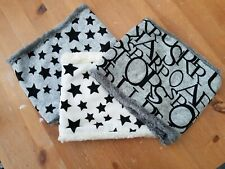 uk baby kids winter scarf snood faux fur very warm, white/stars