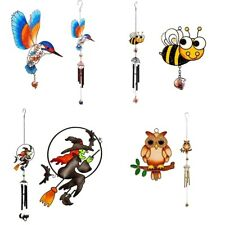 Wind Chimes Garden Outdoor Ornament Kingfisher Owl Witch Bee