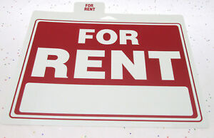 9x12 For RENT Sign - Plastic Apartment House Housing