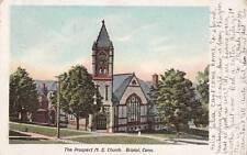 Antique POSTCARD c1906 Prospect Methodist Church BRISTOL, CT 16663