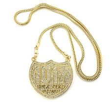 """ICED OUT 1017 BRICK SQUAD PENDANT-4 & 36"""" FRANCO CHAIN"""