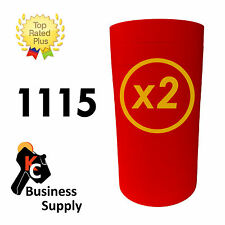 Red 1115 labels for Monarch 2 line price gun 2 sleeves with ink rollers