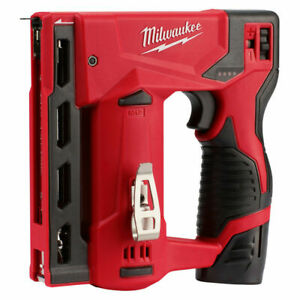 "+Milwaukee 2447-20 M12™ 3/8"" Crown Stapler Gun New in box tool only"