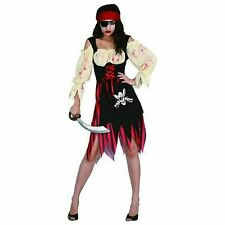 Adult Ladies Zombie Pirate Halloween Women Costume Fancy Dress Accessories UK