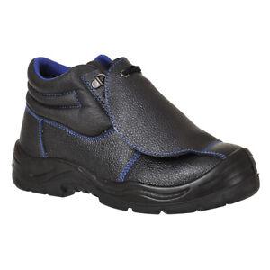 Portwest FW22 - Black Sz 9  Steelite Metatarsal Boot S3 HRO M Safety Shoe PPE