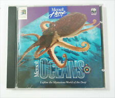 Microsoft Oceans PC 1995 Home WWF Explore the Mysterious World Deep Vtg Software