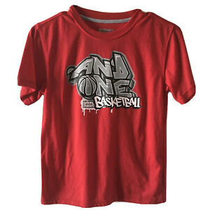 And1 Boys Red T Shirt Size Large 10/12