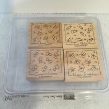 Stampin' Up! Fabulous Four Rubber Stamp Set Of 4 2004