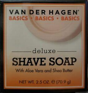 VAN DER HAGEN DELUXE SHAVE SOAP 2.5oz with ALOE VERA SHEA BUTTER