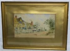 Dudley Hughes, signed Watercolour Painting Odiham Hamps - FREE Postage [1791]